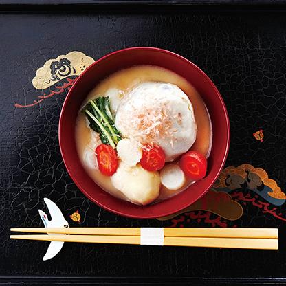 親子三代の京風お雑煮
