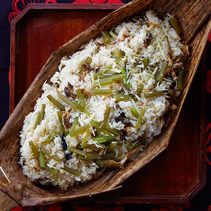 焼きサバとふきの生姜ご飯