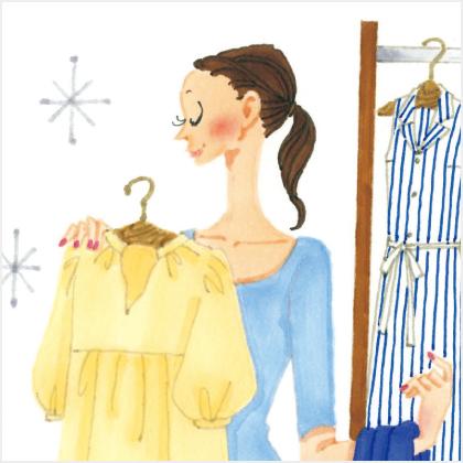 洋服を整理して、さわやかクローゼット