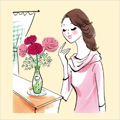 季節の花を飾って、心をキレイに