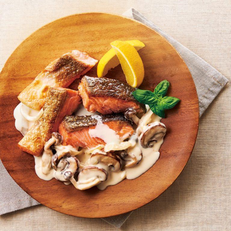きのこが香る秋鮭のソテー