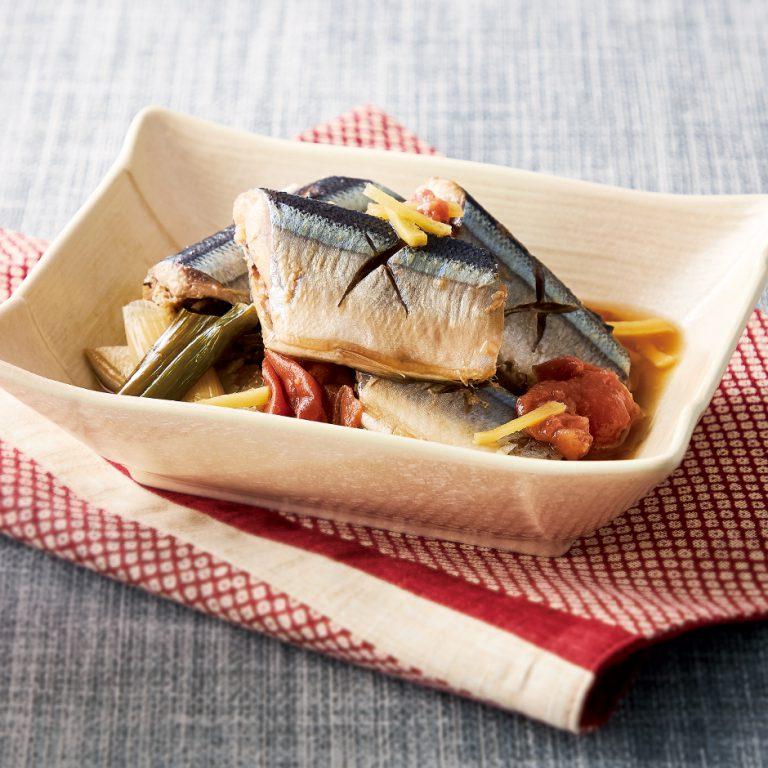 梅香る秋刀魚の生姜煮